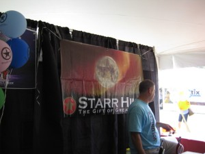 At the Starr Hill Booth