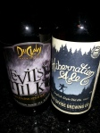 Devils Milk and Hibernation Ale