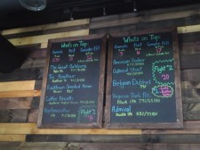 Draft list in the taproom at 3 Brothers