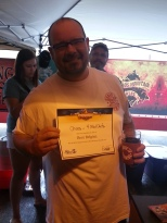 Chaos Mountain's Will Landry with his Microfestivus award